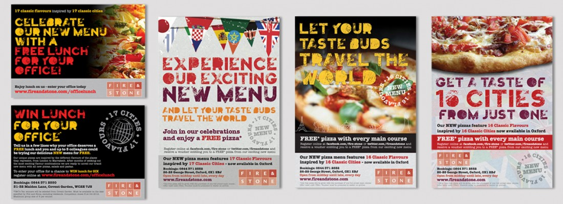 Fire and Stone | New Menu Press and Corporate Campaign